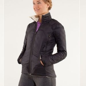 Lululemon Turn Around Jacket Polar Cream / Black
